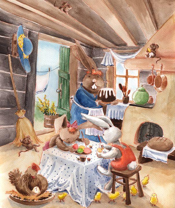 Rabbits' House - InkPaint
