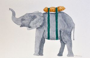 Elephant with Lunchbox