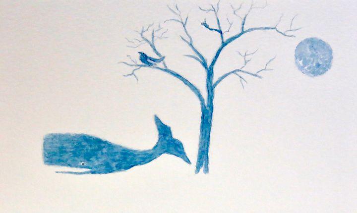 Bluebird watching Blue Whale - Addison