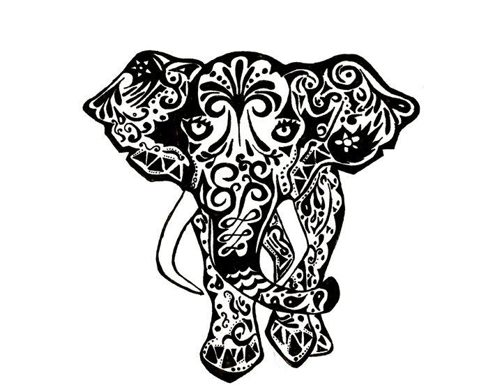Indian Elephant - Matt's Art