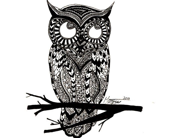 Tribal Owl - Matt's Art