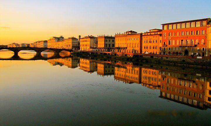 Arno - Florence by Sunset - Matt's Art