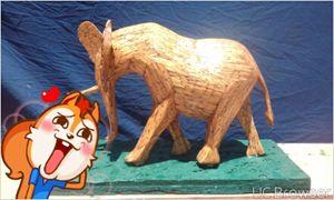 matchstick elephant - pontes matchstick art