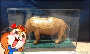 rhino in glass - pontes matchstick art