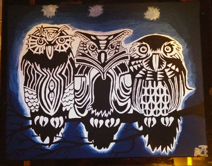 Three owls - Michael B Larabie