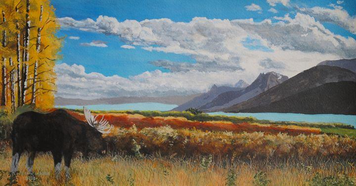 Jackson Lake on a Sunny Afternoon - Paul Larson's Artwork
