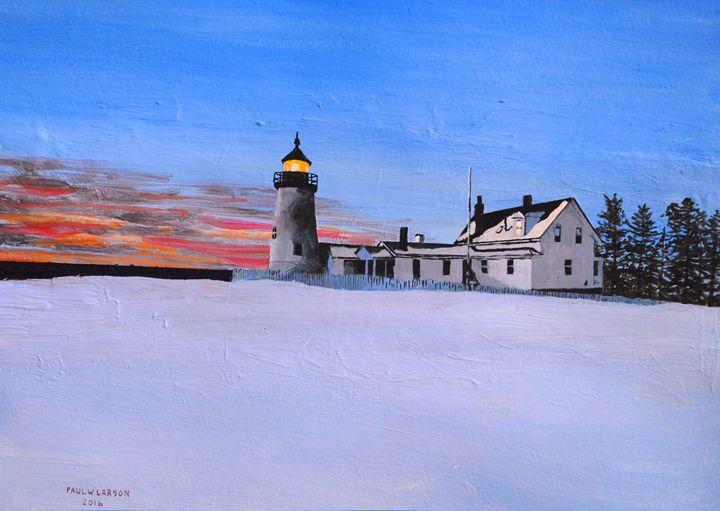 The Light at Pemaquid Point - Paul Larson's Artwork