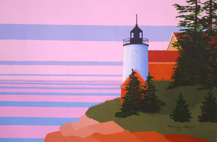 Bass Harbor Light - Paul Larson's Artwork