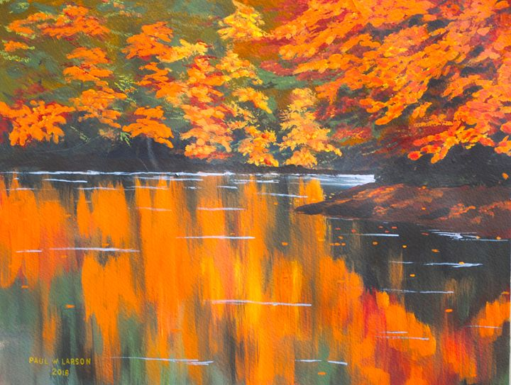 New Hampshire Reflections - Paul Larson's Artwork