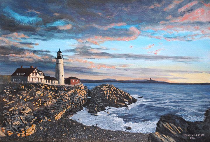 A New Day at Portland Head - Paul Larson's Artwork
