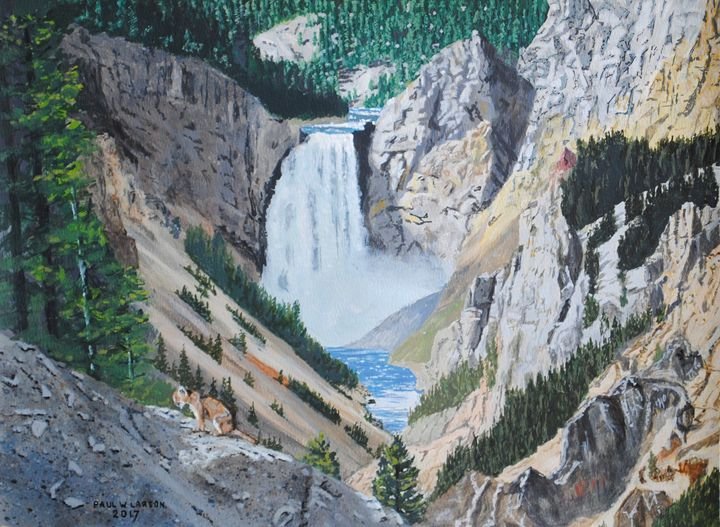 Yellowstone Falls - Paul Larson's Artwork