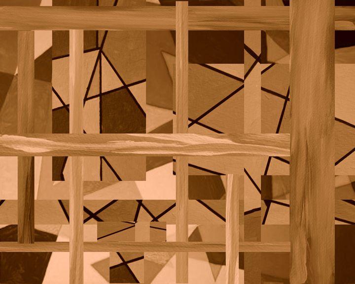 A House of Wooden Blocks - Paul Larson's Artwork