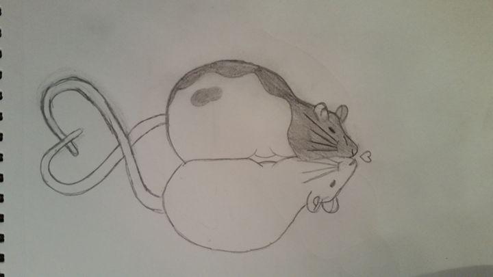 Rat love - Paintings