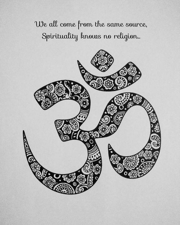 Om - Zentangle and Mandala love - Artistic Meditation