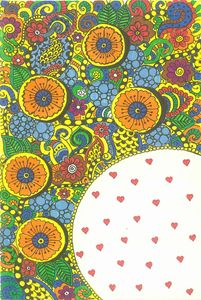 Zentangle love - colorful hearts