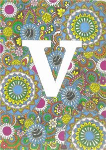 V Zentangle love