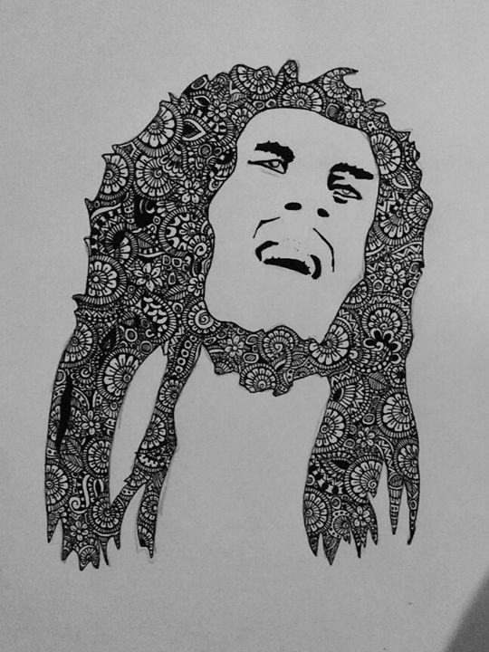 Zentangle Bob Marley - Artistic Meditation