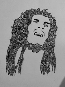 Zentangle Bob Marley
