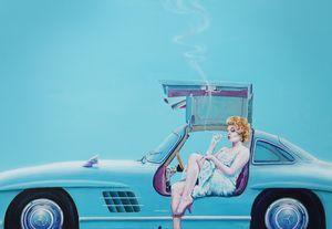 Mercedes-Benz 300 SL (Gullwing)/W198 - Paintings by Krzysztof Tanajewski