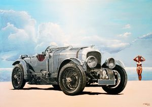 Bentley 4,5-Litre Blower - Paintings by Krzysztof Tanajewski