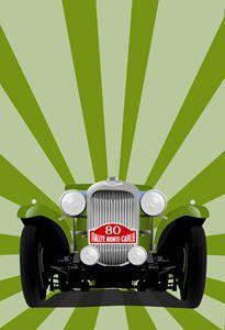 Lagonda 1935 Rallye Monte Carlo - Paintings by Krzysztof Tanajewski