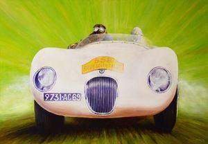 Jaguar Type C - Paintings by Krzysztof Tanajewski