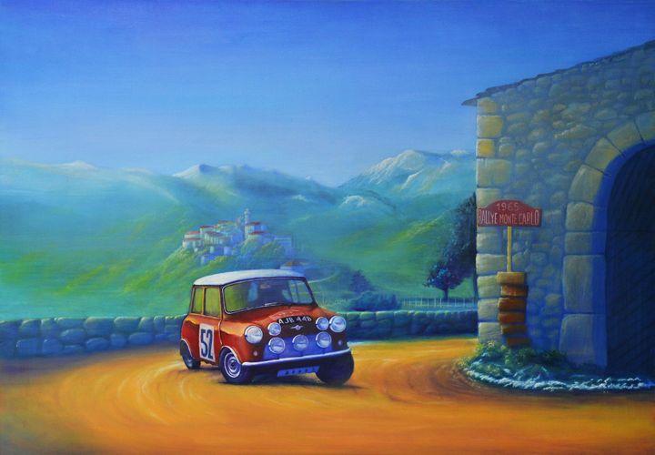 Rallye Monte-Carlo 1965 - Paintings by Krzysztof Tanajewski