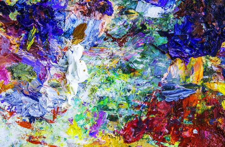 Abstract artistic palette - digimatic