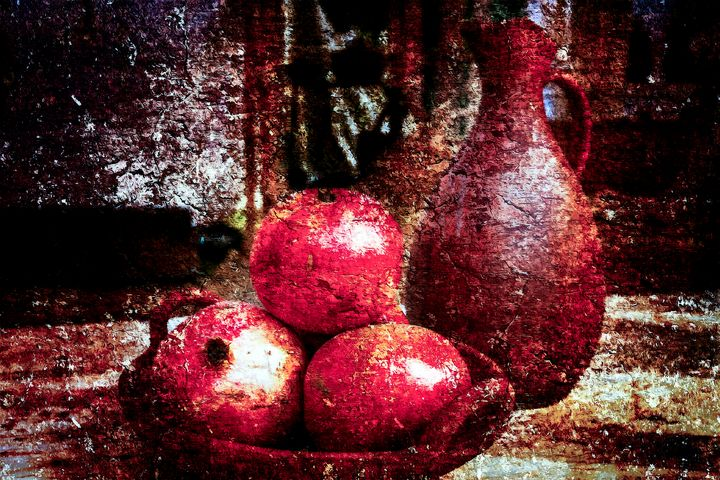 Pomegranates And A Pitcher - digimatic