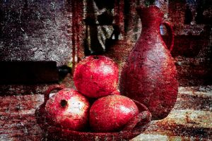 Pomegranates And A Pitcher photo - digimatic