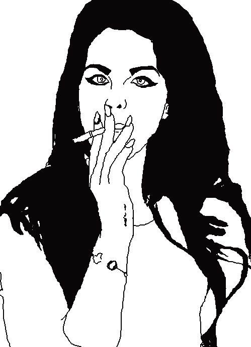Lana Del Rey Outline - donnie cobain