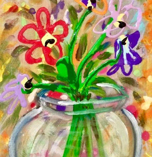 Flowers in a Glass Vase - Merilee Tutcik