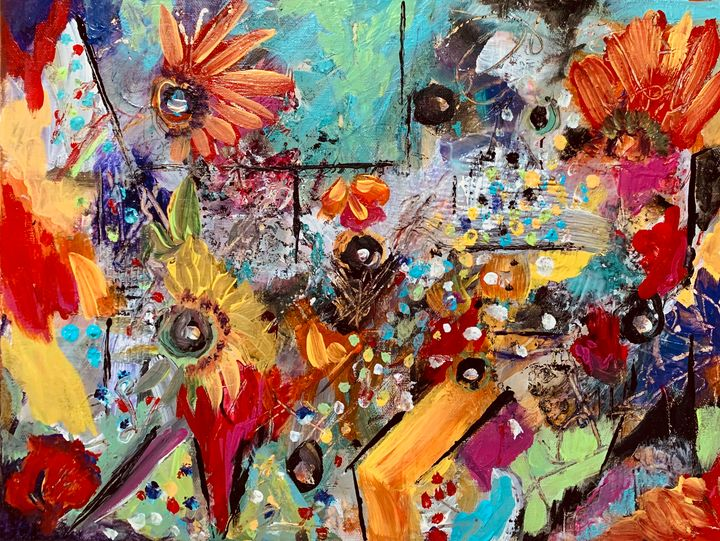 Intuitive Floral AbstractExpression - Merilee Tutcik