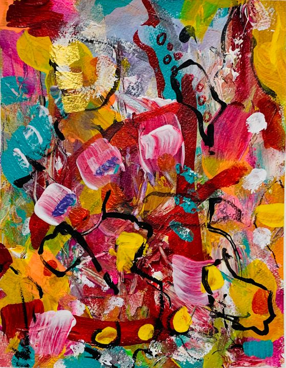 Abstract Colors in Commotion - Merilee Tutcik