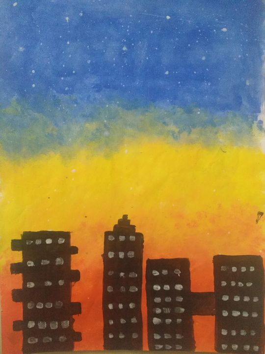 Sunset painting - United Colors of KKB's Art gallery