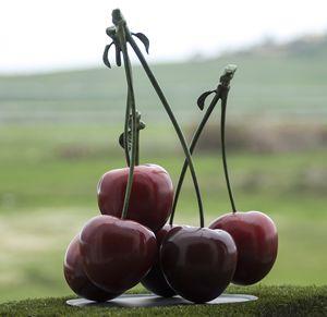 Plates of cherries
