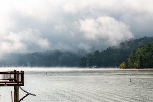 Foggy Lake Morning - Adam Lovelace Photography