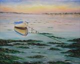 Lonely boat - Original painting