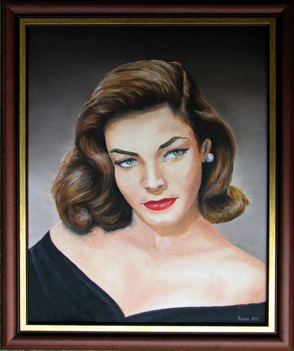 Lauren bacall - portrait - Danijel's Art
