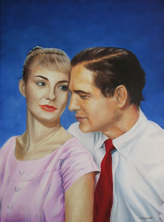 Paul Newman and Joanne Woodward - Danijel's Art