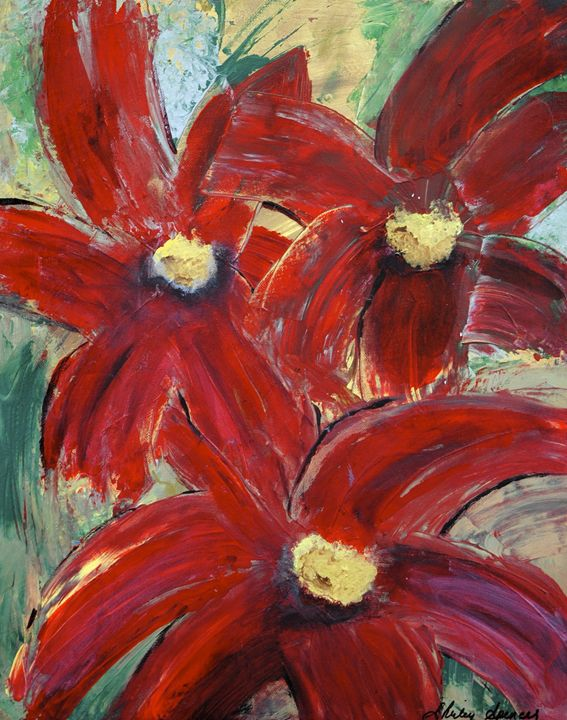 Flowers in Flame - Shirley Spencer