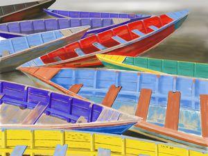 Colorful boats - AP Art