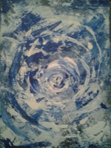 Snow Whirlwind Abstract - Desirea Artwork