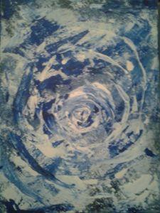 Snow Whirlwind Abstract - Desirea Artwork