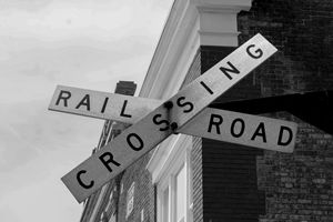 Old crossing  sign