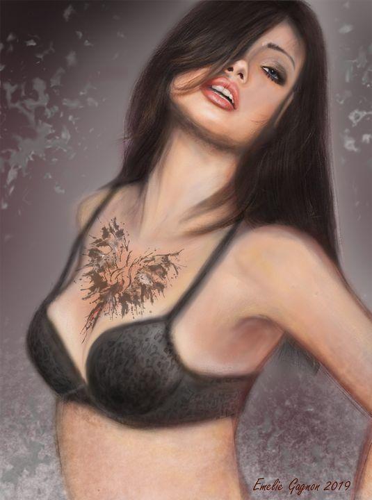 Dove Model art - Emelie