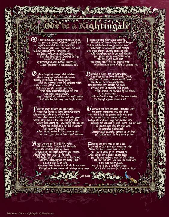 Ode to a Nightingale,John Keats - Images by Tannia