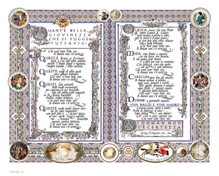 Lorenzo da Medici, il Magnifico Poem - Images by Tannia