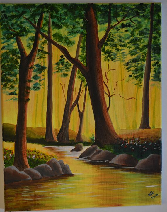 Sunlit woods - Art by Connie