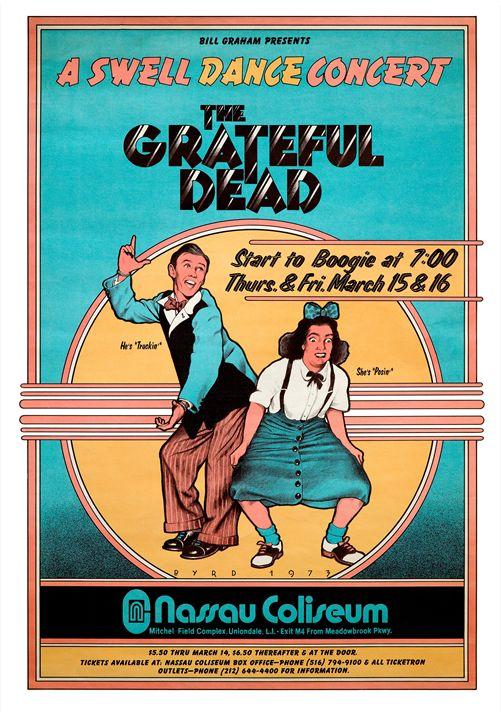 GRATEFUL DEAD Nassau Venue 1973 - David Edward Byrd Posters